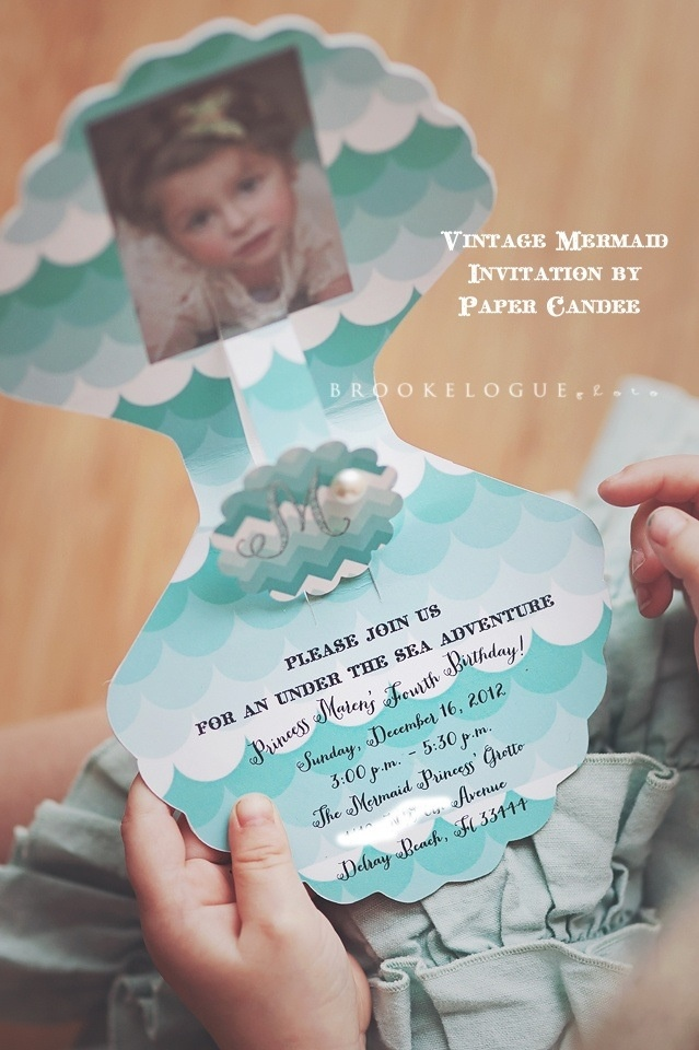 Ariel invitations. Also check out my shop or more fun ideas. www.partiesandfun.etsy.com