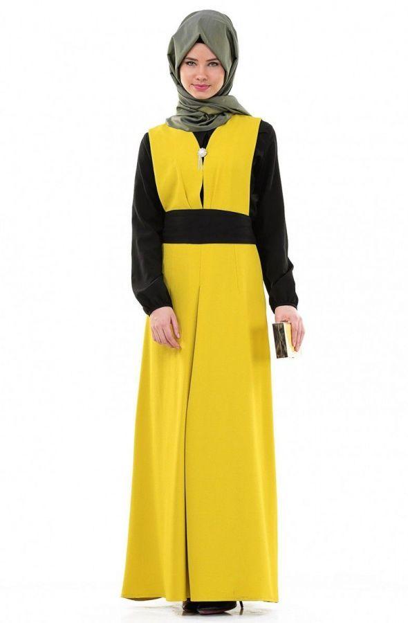 39 - 94 TL fiyat aralığında Tesettür giyimde tanınmış markaların yeni sezon şık tesettür elbise modelleri caddezar
