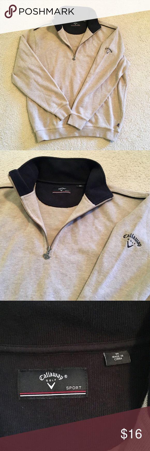 Callaway Golf Half ZIP Sweater Never been worn, no flaws.  Great neutral color! Callaway Sweaters Zip Up