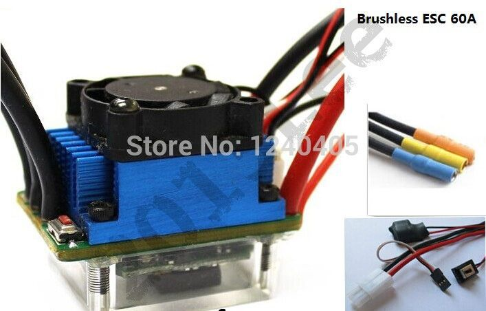 33.72$  Watch here - http://alii0t.shopchina.info/go.php?t=1916854589 - powerful Racing 60A SL V2 Brushless Speed Controller ESC for RC 1/10 Car Truck Tamiya  Connector  #aliexpress