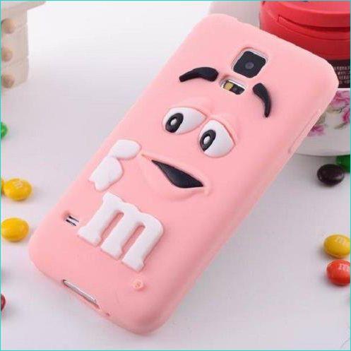 Mobiele telefoon cover siliconen M&M's