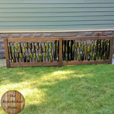 how to build a bottle wall