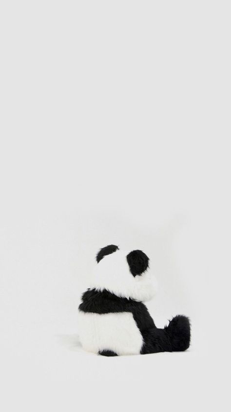 Minimal Simple Panda Back Iphone 8 Wallpaper Zoomapps