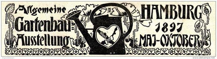 Original-Werbung/ Anzeige 1897 - ALLGEMEINE GARTENBAU - AUSSTELLUNG - HAMBURG - ca. 160 x 45 mm