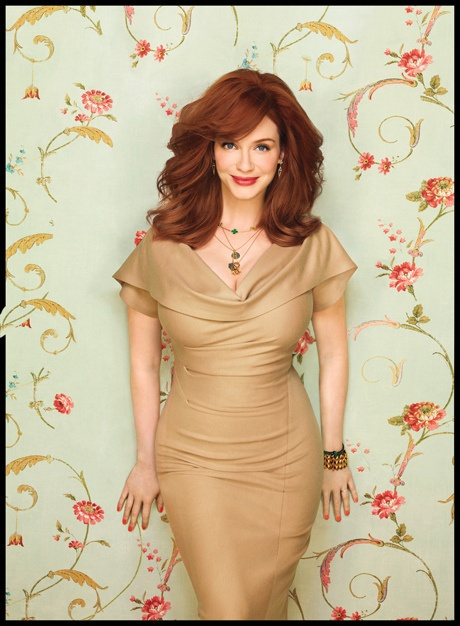 Oh man, can I please look like this?! Love the hair, love the dress, I just want to be Christina Hendricks.