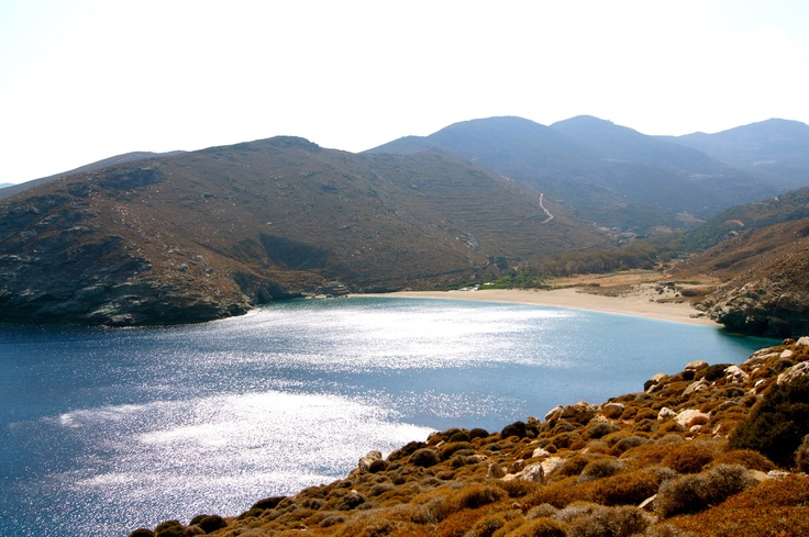 #Ahla beach is among the most beautiful beaches in #Greece #Onar #Andros