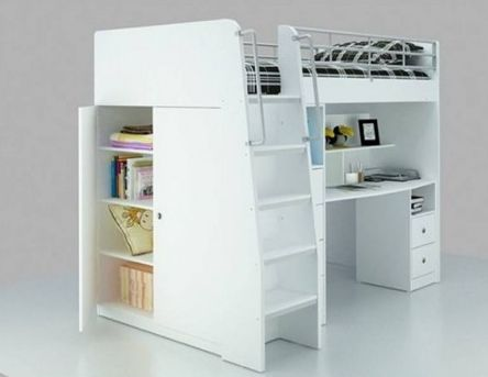 Saturn Loft with Stair Drawer, Bunk Beds