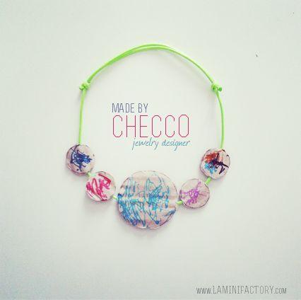 MiniFactory: La collana riciclata - DIY festa della mamma Craft veloce e semplice mother's day necklace handmade recycle cardboard
