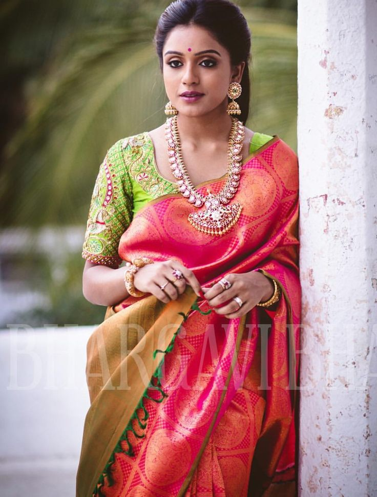 how to wear silk saree in south indian style