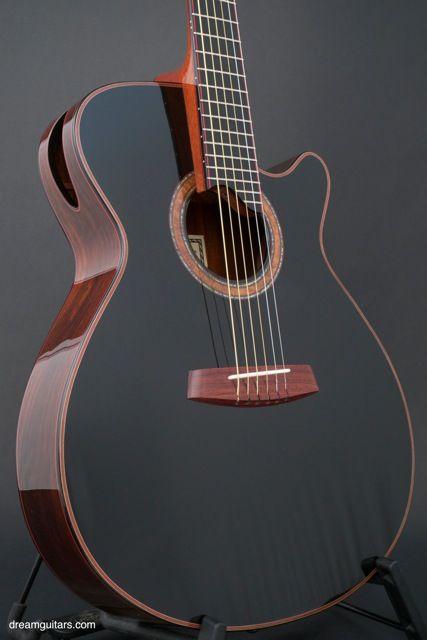 Dream Guitars: New Charles Fox Guitars, Charles Fox, Ergo SJ-14 Noir, Brazilian Rosewood, Alpine Spruce composite, Small Jumbo, Acoustic Guitar, Ron DeLano, CFox, Custom