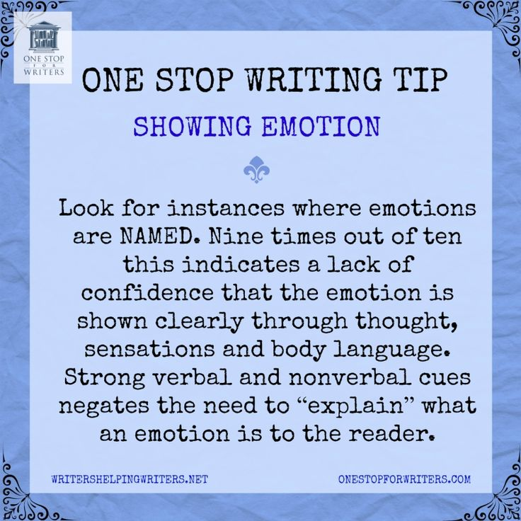 Emotional showing One Stop for Writers http://www.onestopforwriters.com/