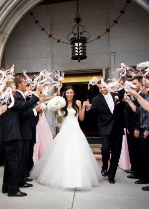 Celebrate the Newlyweds with ribbon wands!  @Ann Flanigan Taylor @Karen Darling Me Pretty