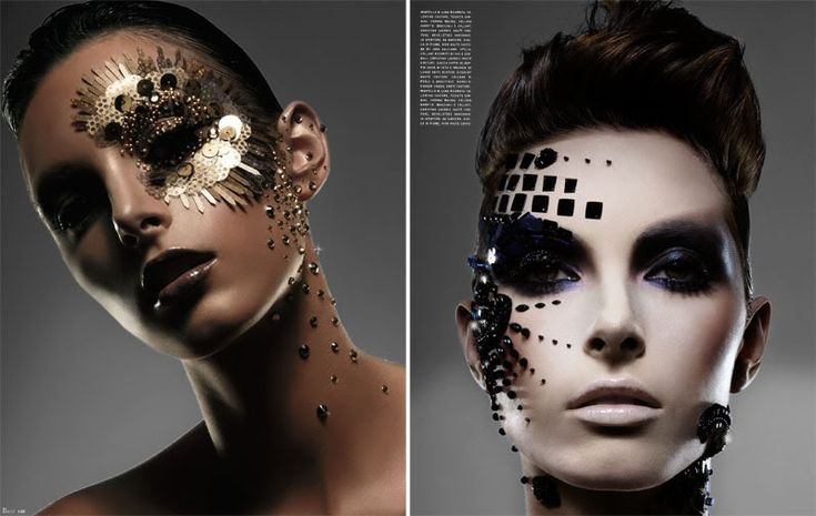 Sci Fi make-up looks like these are incredible... the placement of everything is absolutely perfect.