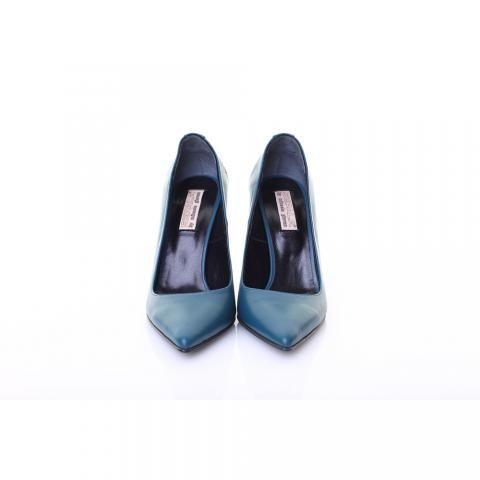 Pantofi piele albastru inchis | The Boutique