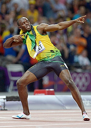 Usain Bolt. The Fastest Athlete Ever