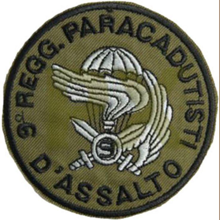 Patch omerale 9° REGGIMENTO PARACADUTISTI D'ASSALTO COL MOSCHIN