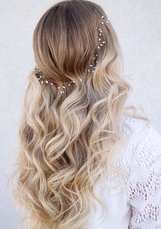 Sweet 16 hair idea simple and sweet