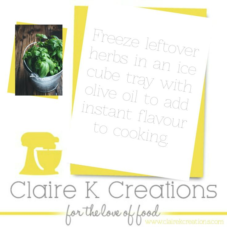 save your leftover herbs with olive oil. #tip #cooking #save #foodblogger #clairekcreations #herbs