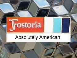 Is it Fostoria or is it Cube? Or Whitehall or other lookalike? Fostoria American was so popular that Jeannette made a pretty pattern in the 1930s called Cube with similar style. You won't have a problem with Cube, but other patterns, like Indiana Whitehall, can be harder. This is a newsletter from the Glass and Pottery Sellers Association of which I am a member.