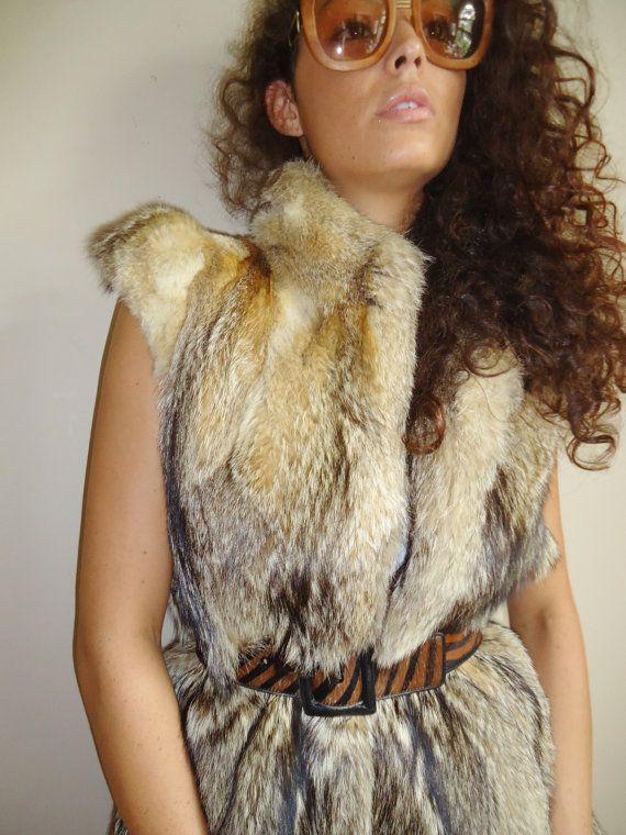 vintage rachael zoe style  mixed  fur vest size  m or by vjones1, $150.00