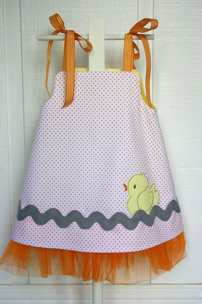 Reverse side of rubber duck Tutu dress | by iveyc95