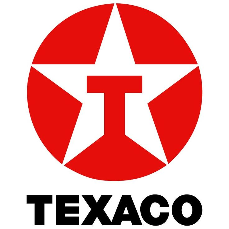 Even though the Texaco logo only uses two colors and has pretty ...