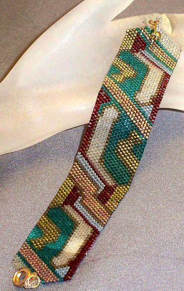 art deco peyote stitch patterns | Art Deco-Random Art Bracelet