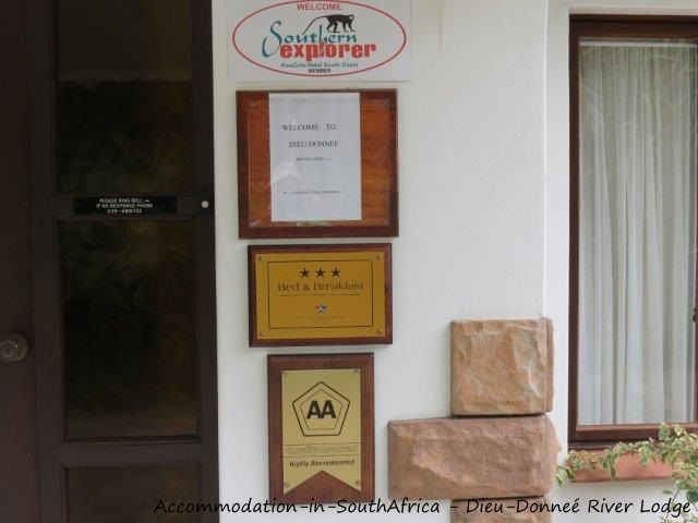 Welcome at Dieu-Donneé River Lodge. http://www.accommodation-in-southafrica.co.za/KwaZuluNatal/PortShepstone/DieuDonnee.aspx