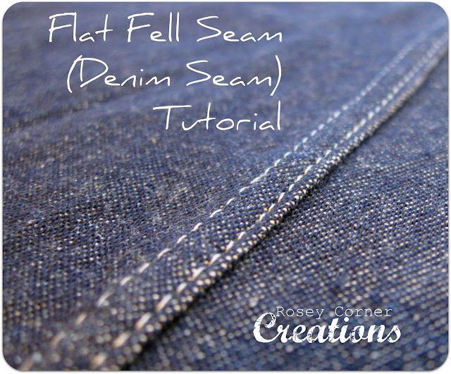 Flat Fell Seams (Tutorial) . . . great pics.