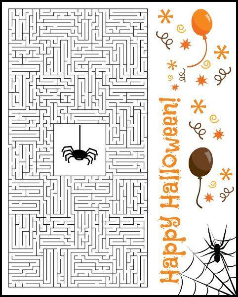 Free Halloween Printable Puzzles & Game. Fun Halloween theme activities for kids!