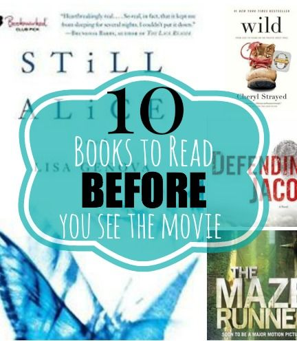 10 books you HAVE to read before the movies come out!!  I love them all!! Great list.