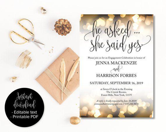 Engagement Invites Engagement Invitations Engagement Party Etsy Wedding Invitation Templates Engagement Party Invitations Etsy Wedding Invitations