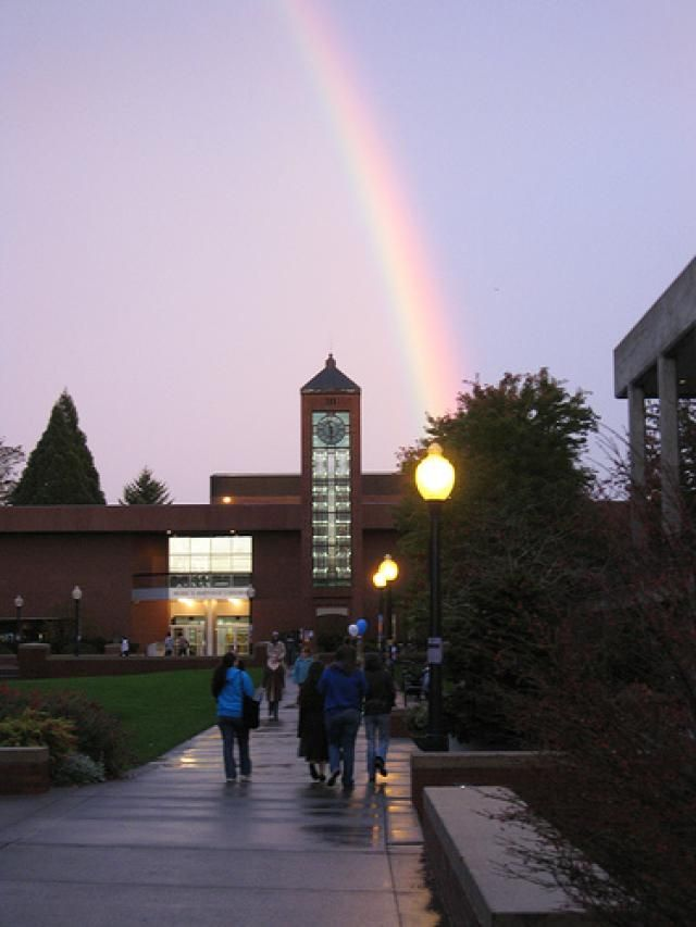 Get to Know 9 of Oregon's Best Colleges and Universities.  Love this rainbow photo:  Willamette University in Salem, OR