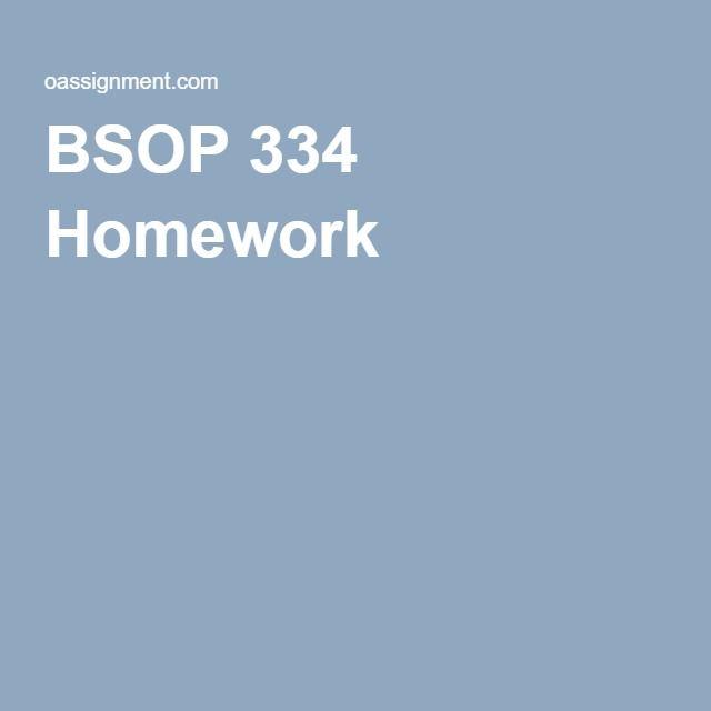 BSOP 334 Homework