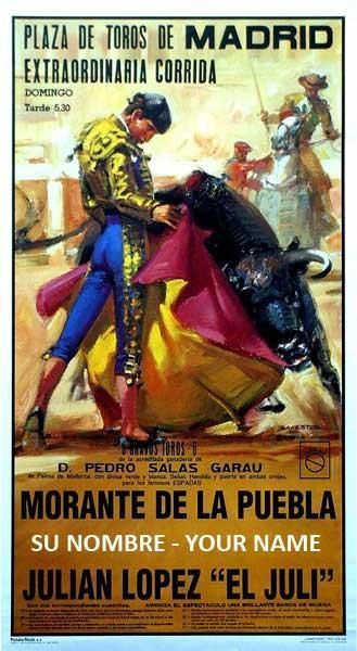 Cartel de la Plaza de Toros de Madrid - Ref. 206