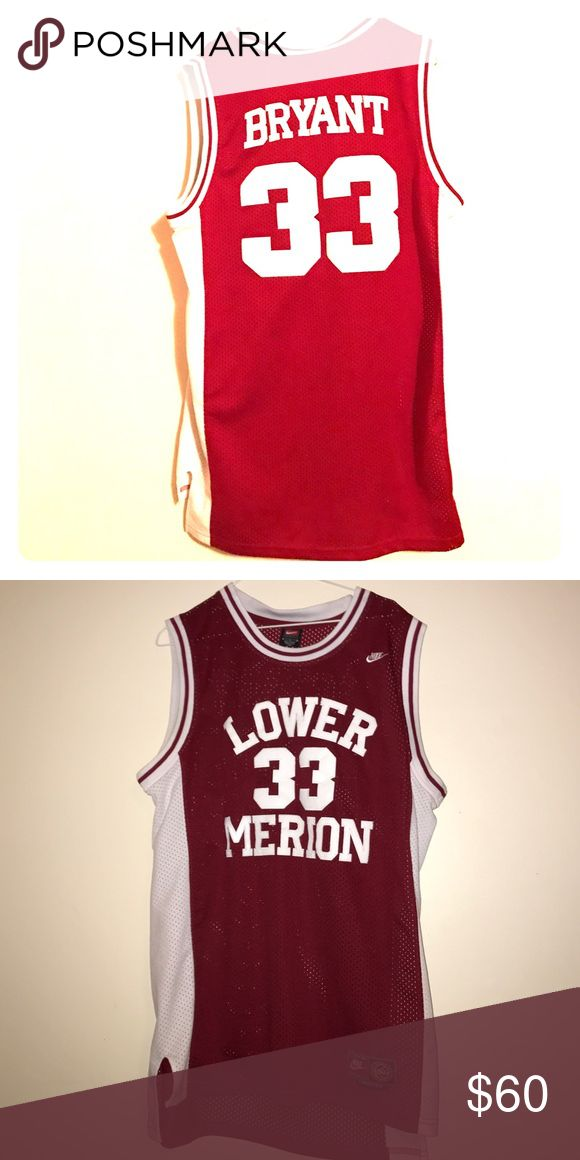 06129a941 ... Lakers Kobe Bryant White Embroidered Throwback NBA Jersey Kobe Bryant  Lower Merion High School Jersey 33 ...
