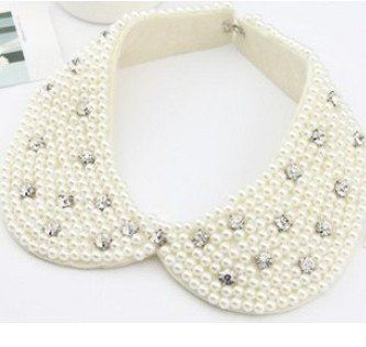 100-Pearl-collar-necklace  Knitted.
