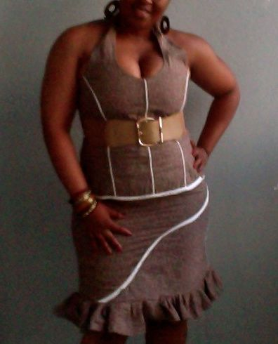 Brown shweshwe 2piece