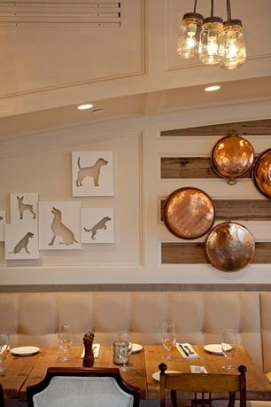 """""""The whole design concept was to reinvent White Dog and take it to the next level while celebrating what it's all about,"""" explained interior designer Barbara Balongue."""
