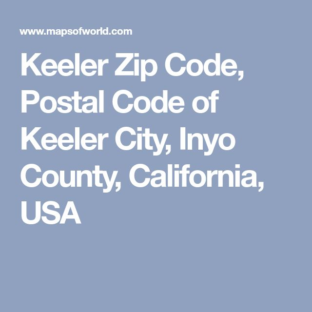Keeler Zip Code, Postal Code of Keeler City, Inyo County, California, USA