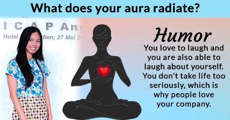 What does your aura radiate?