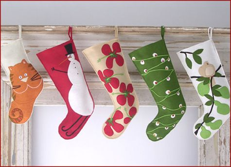 I love the idea of handmade stockings. So personal...Guess I'd better get to work!