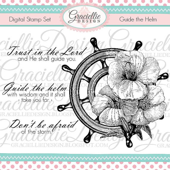 Guide the Helm Digital Stamp Set by GraciellieDesign on Etsy