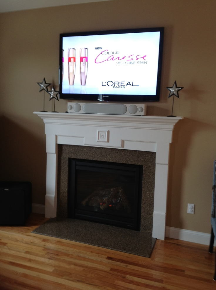 Tv over fireplace fireplace pinterest tv over - Does a living room need a fireplace ...
