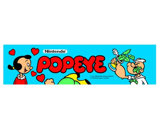Popeye Video Arcade Marquee - arcadeoverlays