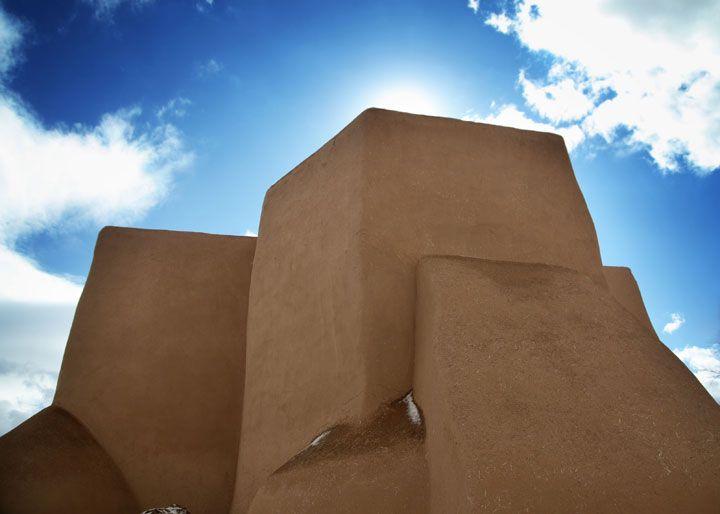 L'église San Fransisco de Asis – Ranchos de Taos, Nouveau Mexique