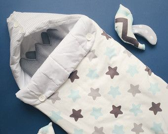 Sleeping bag for newborn SUMMER, Swaddle Wrap for Babies, SLEEP SACK, Cocoons, blue, grey, zigzag, toy, cute