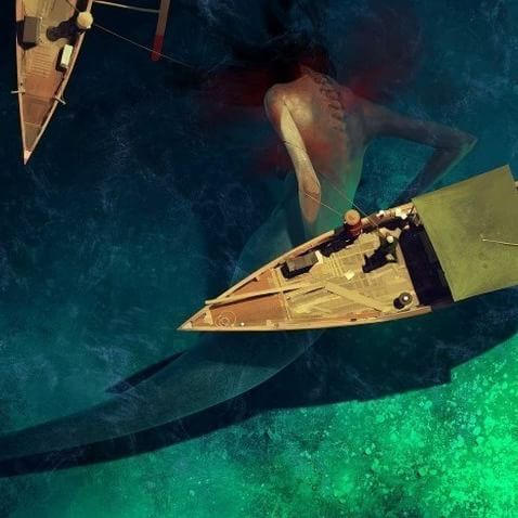 """...to slip beneath the surface and soar along the silent bottom of the sea agile and shining in water honeycombed with #light."" ― Ellen Meloy ❇ Sergey Kolesov  #mermaid #sirena #sirène #sea #water #magic #art #artwork #surreal #surrealism #imagination #dream"