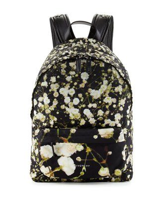 Givenchy Baby's Breath Printed Large Backpack, Black/Multi