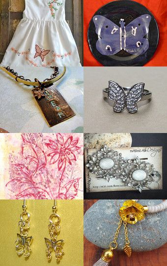 #Blossoms and #Butterflies by Nadine Manger on #etsy #art #handmade #crafts #etsyaaa #jewelry #treasury #decor